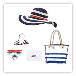 Шляпа, сумка, купальник Junior Gaultier
